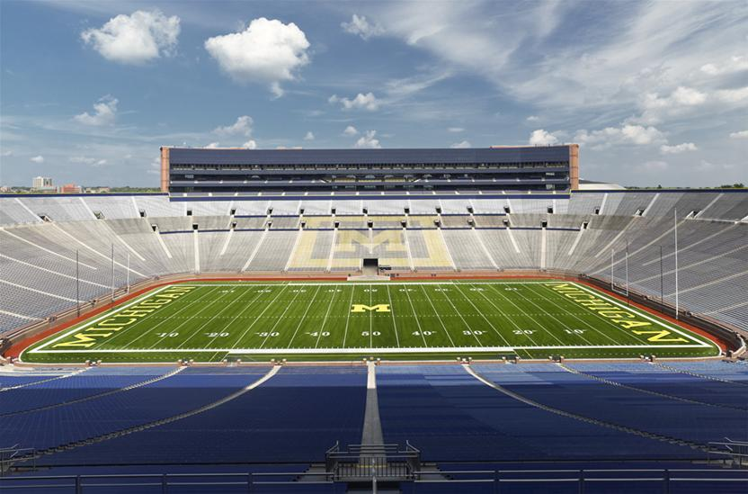 University of Michigan, Michigan Stadium, Image: Brad Feinknopf (KWM Architecture)